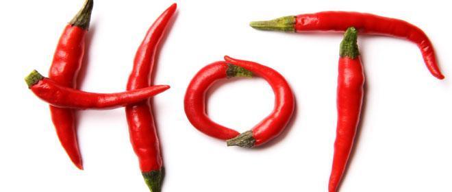 Rode peper helpt bij het afvallen